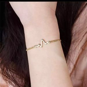 Gold Filled Heartbeat Bracelet
